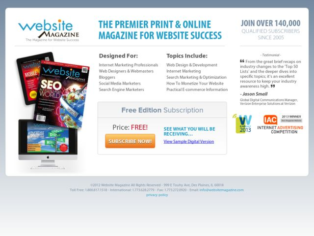 Free Website Magazine