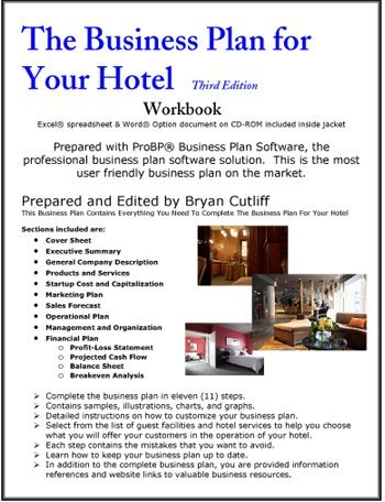 boutique hotel business plan template - the business plan for your hotel operation